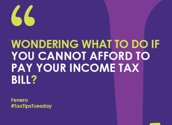 Wondering what to do if you cannot afford to pay your income tax bill?
