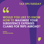 Maximise Tax Relief on Foreign Travell