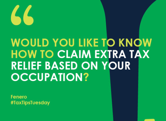 Would you like to know how to claim extra tax relief based on your occupation?